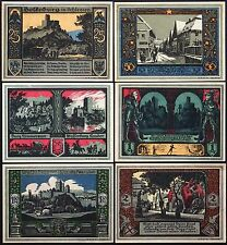 "BOLKENHAIN 1922 ""Knights & Castles"" complete series German Notgeld today Poland"