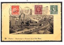 BE10 1936-37 BELGIUM to JERSEY Postcard Reused & Sent to AUSTRALIA NSW