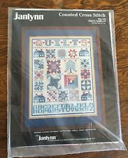 Janlynn Cross Stitch Quilts Sampler Kit #50-519 Never Opened 14x16 1987 NOS