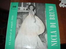 """NICLA DI BRUNO  FESTIVAL DI NAPOLI 1958 """" MASTO ANDREA + 3 """"  E.P.    ITALY'58"""