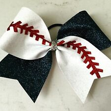 Cheer Bow Cheerbow Cheerleading Ribbon Bows Softball Baseball Glitter