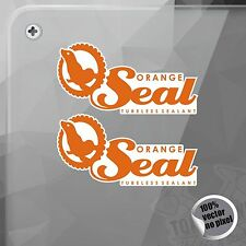 PEGATINA ORANGE SEAL TUBELESS SEALANT VINILO VINYL STICKER DECAL ADESIVI