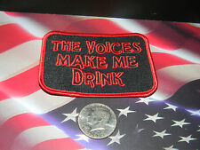 the voics make me drink iron on jacket hat patch irion on bar style patch funy