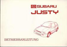 SUBARU J Serie JUSTY 2 Betriebsanleitung 1995 Bedienungsanleitung JMA BA