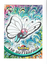 1999 TOPPS SERIES 1 POKEMON TV ANIMATION EDITION CARD # 12 BUTTERFREE