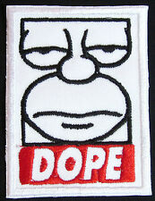 homer simpson style dope  simpsons Iron on Patch FREE NORTH AMERICA shipping