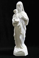"""16"""" Virgin Mary with Baby Jesus Catholic White Statue Sculpture Made in Italy"""