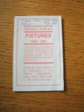 1990/1991 Manchester United: Official Fixture List/Card