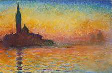 Framed Print - Monet San Giorgio Maggiore at Dusk (Picture Poster Painting Art)