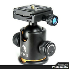 Beike Aluminum Alloy Tripod ballhead / Ball Head With Quick Release Plate BK-03