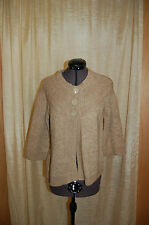 NWT Autreton Alpaga Beige Cardigan Sweater Size T1/Medium
