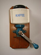 Antique/Vintage Wall Mounted Ceramic and Iron Coffee Grinder/Mill