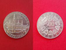 Österreich 500 Schilling 1974 Wiener Rathaus Silber unc.