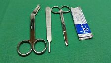 8 PC SURGICAL INSTRUMENTS SUTURE LACERATION KIT SCISSORS FORCEPS SURGICAL BLADES