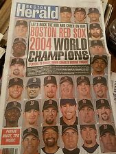 BOSTON HERALD BOSTON RED SOX 2004 WORLD SERIES CHAMPIONS PARADE DAY 10/30/04