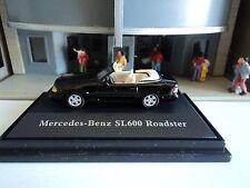 SCHUCO  MERCEDES BENZ   SL 600 ROADSTER  BLACK   1/87  HO   DIE CAST