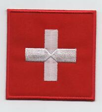 Switzerland Large Flag Iron On / Sew On Patch Badge Appliqué ‎