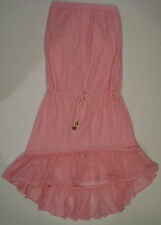 NEW JUICY COUTURE PRIMA DONNA SWIMSUIT BLOUSON COVERUP DRESS,  SIZE SMALL PINK