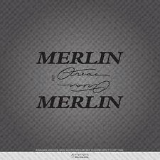 01222 Adesivi Merlin zone bicicletta-Decalcomanie-Transfers-Nero