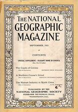 1923 National Geographic September - North China Hair Industry; Corsica; Alaska