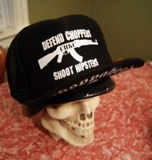 Choppahead SHOOT HIPSTERS Trucker hat with under brim printing - chopper, custom