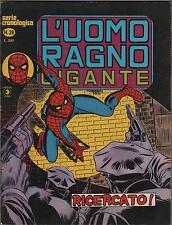 L'UOMO RAGNO GIGANTE #  28  RICERCATO !  editoriale corno 1978 quicksilver
