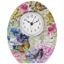 Beautiful Sweet Pea Butterfly Design Mantle Standing Clock Ornament New