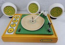 RARE: Voice of Music - Mellow Yellow Record Player Model 342-1 w 3 Speakers USED