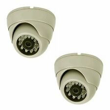 Smart Security Club Pack of 2 Indoor IR Dome Camera, Eye-Ball Type