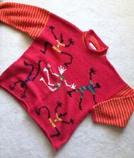 Amano red chunky sweater