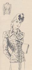1940 Vintage Jacket Sewing Pattern Wartime 10 12 14 16 18 20 22 24 VTG