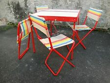 Vintage Italy Mid Century Kids Table / Chair Indoor/Outdoor Set Eames Era Prouve