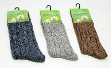 3 Pairs Of Men's Chunky Long Wool Socks  Thick Heavy Duty Work Boot Socks 6-11