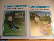 Landmaster Scout LawnMower & Sovereign DeLuxe LawnMower Two 1980s Leaflets
