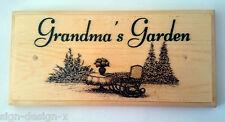 Grandma's Garden Placa / Cartel / Regalo-Dibujo Nanny Mamá Casa 348