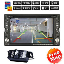 "6.2""HD 2Din GPS Navigation Car Stereo DVD CD Player iPod Bluetooth Radio+Camera"