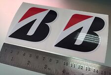 Bridgestone B Stickers / Decals for Fork Front Mudguard X2 (70mm x 65mm)