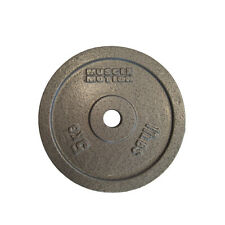 Pair of 5kg Cast Iron Standard Weight Plates for Gym Fitness Training