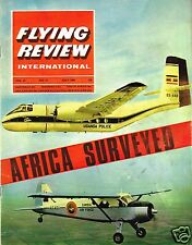 FLYING REVIEW INT JULY 66: AFRICA-FULL AVIATION SURVEY/ITALIAN Re2000/SA330 HELO