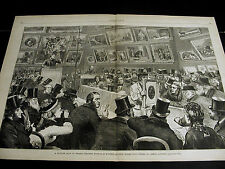 King Street London CHRISTIE MANSON WOODS AUCTION HOUSE BIDDERS 1875 Lg Print VF
