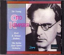 KLEMPERER BRAHMS Symphony 1 WEILL Threepenny Opera STRAUSS Till Eulenspiegels CD