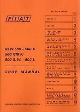 FIAT 500 1965 SHOP catalogo manuale LIBRO BOOK