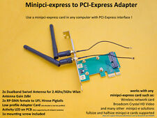 PCI-Express/Pcie To Pci-Express/PCI-E x1 Adattatore + pigtails + ANTENNA