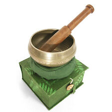 Etched Design Tibetan Healing Meditation Singing Bowl & Stick Boxed Gift Set