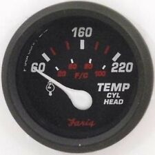 Faria Professional Red Gauge Cylinder Head Temperature w/ Sender 14606 MD