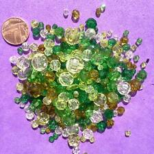 200 x Green Mixed Beads, Key Rings, Craft, Jewellery making,Pony Bead. Spacer