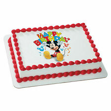 Mickey Mouse edible image frosting sheet personalized cake topper icing #35376
