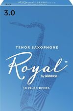 Rico Royal Tenor Saxophone Reeds #3.0 (10-Pack) NEW rkb1030 - Ten Reeds