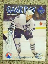 2002-03 St. John's Maple Leafs (AHL) Aaron Gavey cover Vol 12 No 12 program