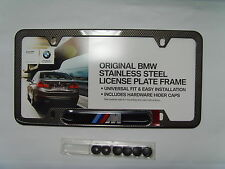 BMW /// M Logo Performance Faux Carbon Fiber License Plate Frame OEM 82120418625